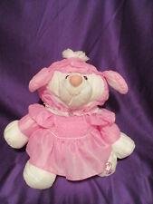 "Fisher Price Puffalumps Lamb Sheep Magenta Dress #8005  15"" 1986 Quaker Oats Co."