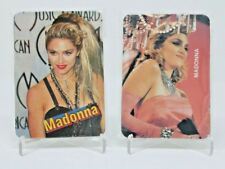 Madonna Lot of 2 Foreign Calendar Trading Card Sets Rare MADONNA Collectibles