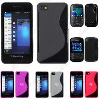 Housse Etui Coque Silicone Motif S-line Gel Souple BlackBerry  Q10 Z10