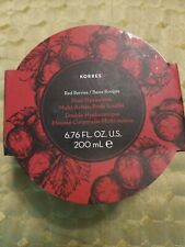 KORRES RED BERRIES Dual Hyaluronic Multi Action Body Souffle - 6.76oz - NEW