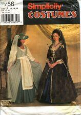 Medieval Renaissance Dress/Gown Simplicity Costume Pattern 7756