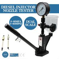 Diesel Injector Nozzle Testing Tester Pop Pressure Tester 0-60Mpa / PSI Gauge US