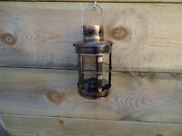 Ships Masthead Lamp 5 Sided Copper Round Lantern  - Port star board Clear Garden