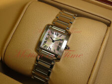 """Cartier Tank Francaise Ladies Special Edition """"Double C"""" Silver Dial - W51031Q3"""