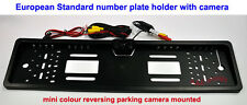 Number Plate Holder Frame with mini colour Reverse Parking Camera guide line