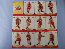 2013 SELECT CHAMPIONS AFL CARDS GOLD COAST SUNS BASIC TEAM SET