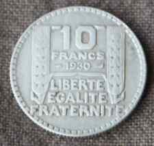 Monnaie France pièce 10 francs ARGENT Turin 1930 Silver coin 1