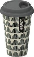 La Cafetiere GREY Bunting TRAVEL MUG Ceramic ECO CUP & LID 250ml DOUBLE WALL