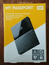 NEW Western Digital WD My Passport 4TB Portable USB Hard Drive - Ships FREE!!