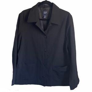 Gap Maternity Black Stretch Wool Blend Suit Jacket Womens Size  Large