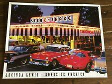 Vintage Steak n Shake Metal Tin Sign Wall Art