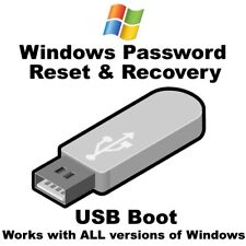 Windows 10 Password Reset Recovery BOOTABLE USB Easy to Use Point & Click