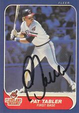 1986 Fleer #594 Pat Tabler INDIANS SIGNED AUTOGRAPH