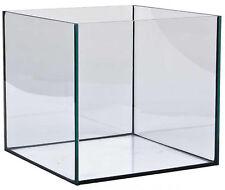 64 Liter Glasaquarium Würfel 40x40x40 Cm Glasbecken Nano Cube Aquarium schwarz verklebt