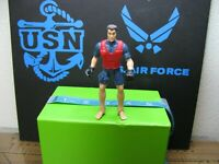 """RESCUE SWIMMER ACTION FIGURE  4"""" INCH RED AND BLUE OUTFIT BENDABLE FEET"""