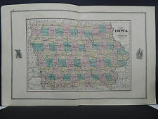 Iowa, Antique State Map, 1881 N1#17