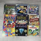 Lot Of 9 Pc Cd-rom Computer Games Bejeweled Rayman Puzzle Mystery Hidden Scrabbl