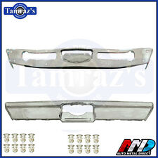 1968-1969 Coronet Front & Rear Bumper Kit Triple Chrome Plated W/ Bolts AMD
