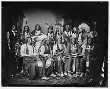 """Native American Indian Sioux Chief Red Cloud & Warriors 1886 6x5"""" Reprint Photo"""