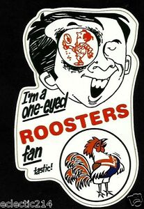 ONE EYED ROOSTERS FAN Vinyl Decal Sticker EASTS SYDNEY CITY nrl rugby league