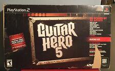 Playstation 2 Guitar Hero 5 PS2, Original Box - Guitar, Strap and Game