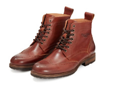 GENUINE TRIUMPH HARDWICK BROWN MOTORCYLE BOOTS ALL SIZES MBTS19515