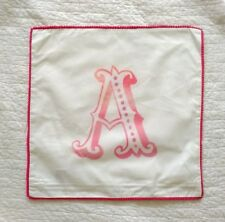 NEW! Pottery Barn teen girl Personalized pillow cover monogram A mini pom pom