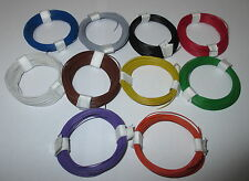 """(1m = € 0,1695) decoderlitze/cobre-galon 0,04 mm² 10 anillos a 10 metros """"nuevo"""""""