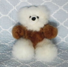 New 100% Baby Alpaca 12� Teddy Bear Soft Fluffy Cuddly White and Brown Radiant