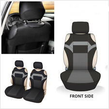 Car Front T-shirt design Seat Covers Set Auto Dust Protector 2 Pack Universal