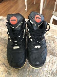Rare Reebok Pump Hexalite Black Retro Basketball Shoes Men's Size 8.5