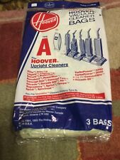 Genuine Hoover Vacuum Cleaner Bags(3 )Type A Upright Cleaners 4010 001A