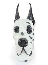Deutsche Dogge (abgeschnitten, bemalt), großer Kopf Resin, Art Dog, CH
