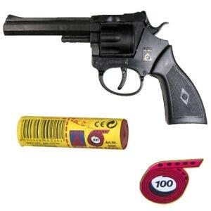 AGENT ROCKY Knall-Pistole mit 1000 Schuß Munition Kinder Spielzeug Revolver