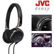 JVC Esnsy On-Ear Folding Headphones with iOS Android Microphone and Remote Black
