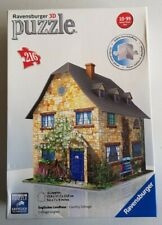 RAVENSBURGER 3D JIGSAW PUZZLE COUNTRY COTTAGE 216 PIECE Checked COMPLETE