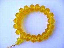 Zaphrani Yellow Translucent Amber Bakelite Islamic Prayer Beads 28 G Faturan