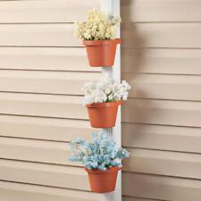 Set of 3: Downspout Wrap Around Adjustable Strap Pole Gutter Trough Planters