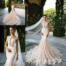 New White/ivory Mermaid Wedding Dress custom size 6-8-10-12-14-16 18++++