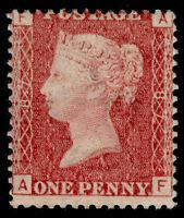SG43, 1d rose-red PLATE 87, LH MINT. Cat £45. AF