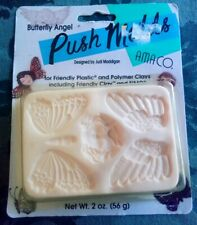 NEW!!! RARE!!! AMACO PUSH MOLD BUTTERFLY ANGEL FRIENDLY PLASTIC POLYMER CLAY