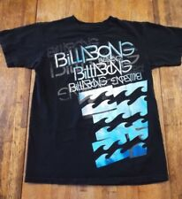 Mens (S) BILLABONG Wave Black Shortsleeve Cotton Graphic T-Shirt