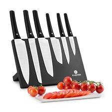 Messerset Messerblock Wellenschliff Kochmesser Küchenmesser 7-teilig weiss
