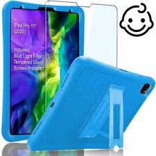 "For Apple iPad Pro 11"" 2020 Kids Case w Blue Flight Filter Tempered Glass Screen"