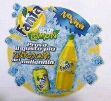 VECCHIO ADESIVO ORIGINALE / Old Original Sticker FANTA LEMON ARANCIATA (cm 20)