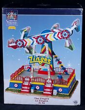 Lemax Carole Towne ZINGER Animated Amusement Carnival Ride 84809 SEE VIDEO
