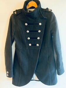 Ben Sherman Men's Military Jacket with Epaulets RARE - Fully Lined - Blue - SML