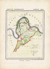ANTIQUE MAP-NETHERLANDS-OIJEN-NOORD BRABANT-KUYPER-1865