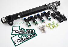 Radium Rail Bosch 1000cc EV14 Fuel Injectors 08-15 Mitsubishi Lancer EVO X 4B11T