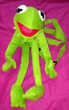 "18"" Kermit the Frog Soft Toy Backpack Bag the Muppet Show  Disney Cravendale"